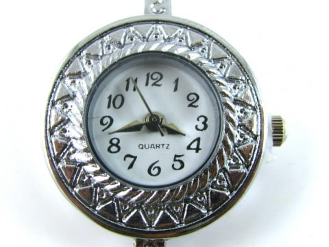 Watch faces spoilt rotten beads silver plated patterned round watch face aloadofball Gallery