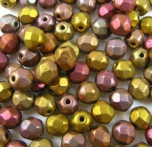 6mm Preciosa Fire-polished Beads