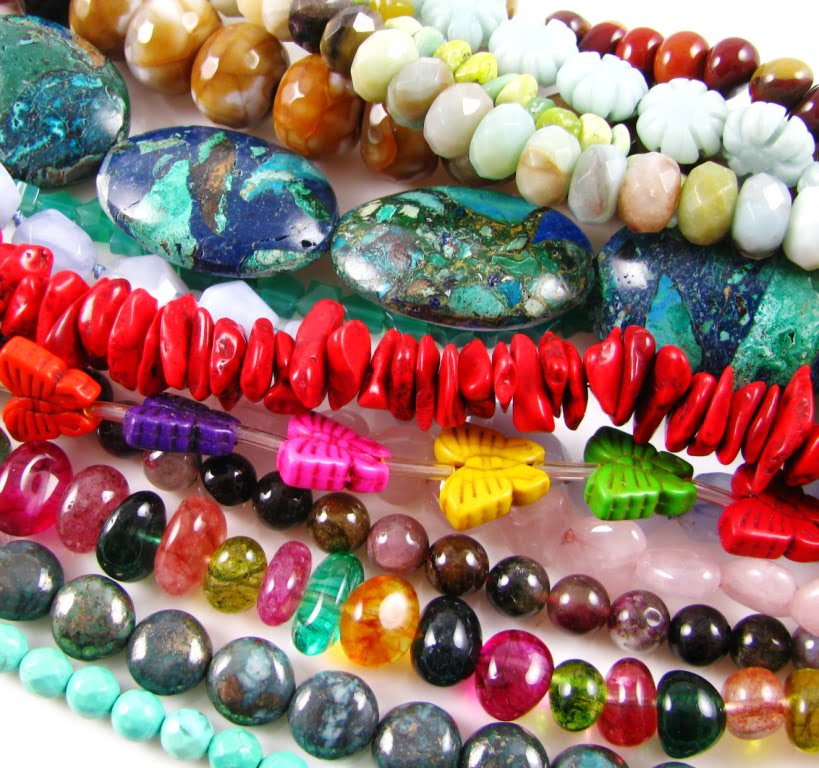 Carved & Faceted Gemstone Beads