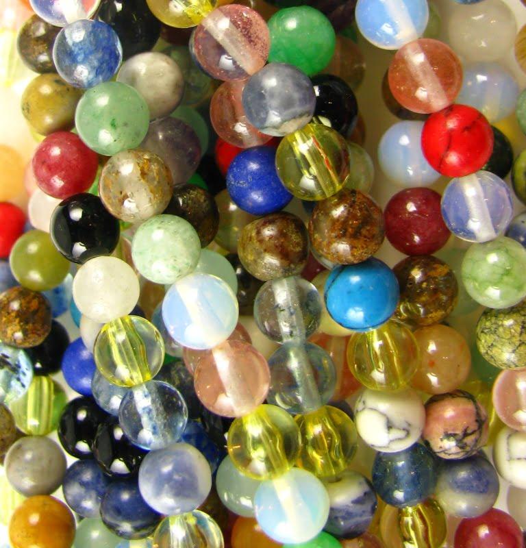 Round Gem Stone Beads