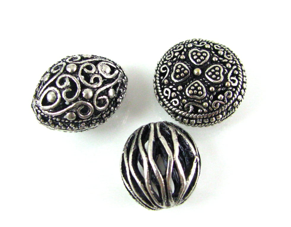 Silver Plated, Copper, Brass & Other Metal Beads