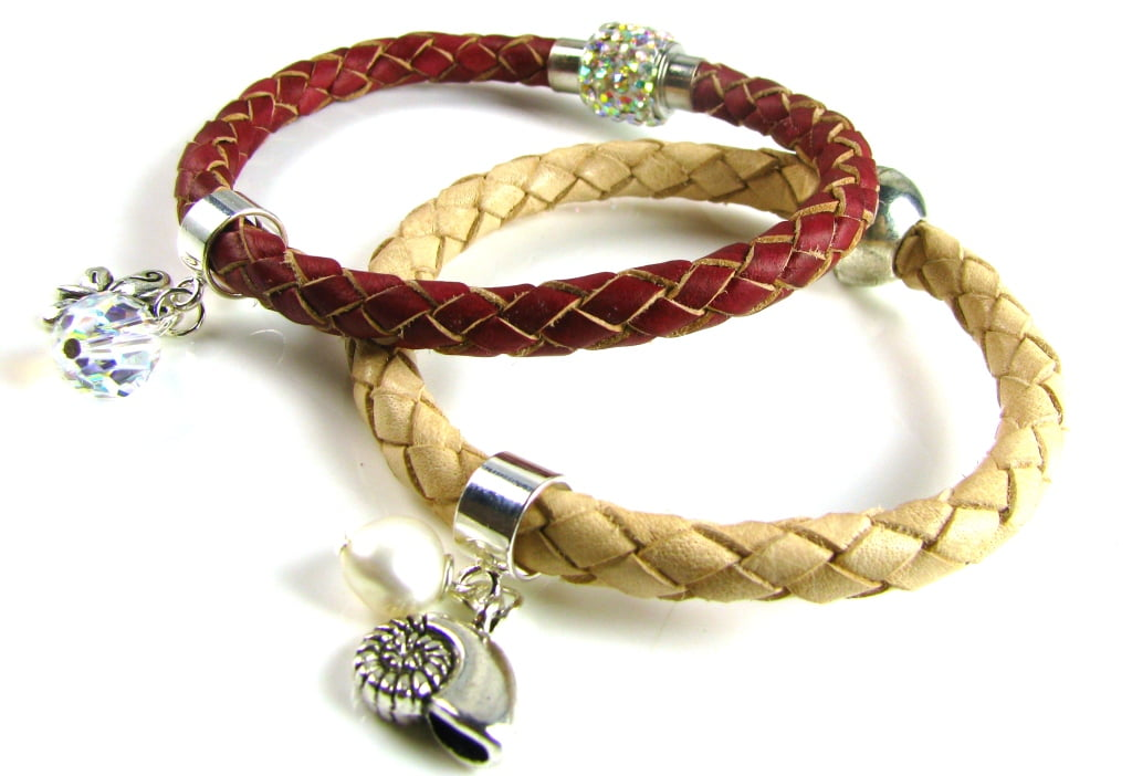 Braided Leather Cord and Accessories