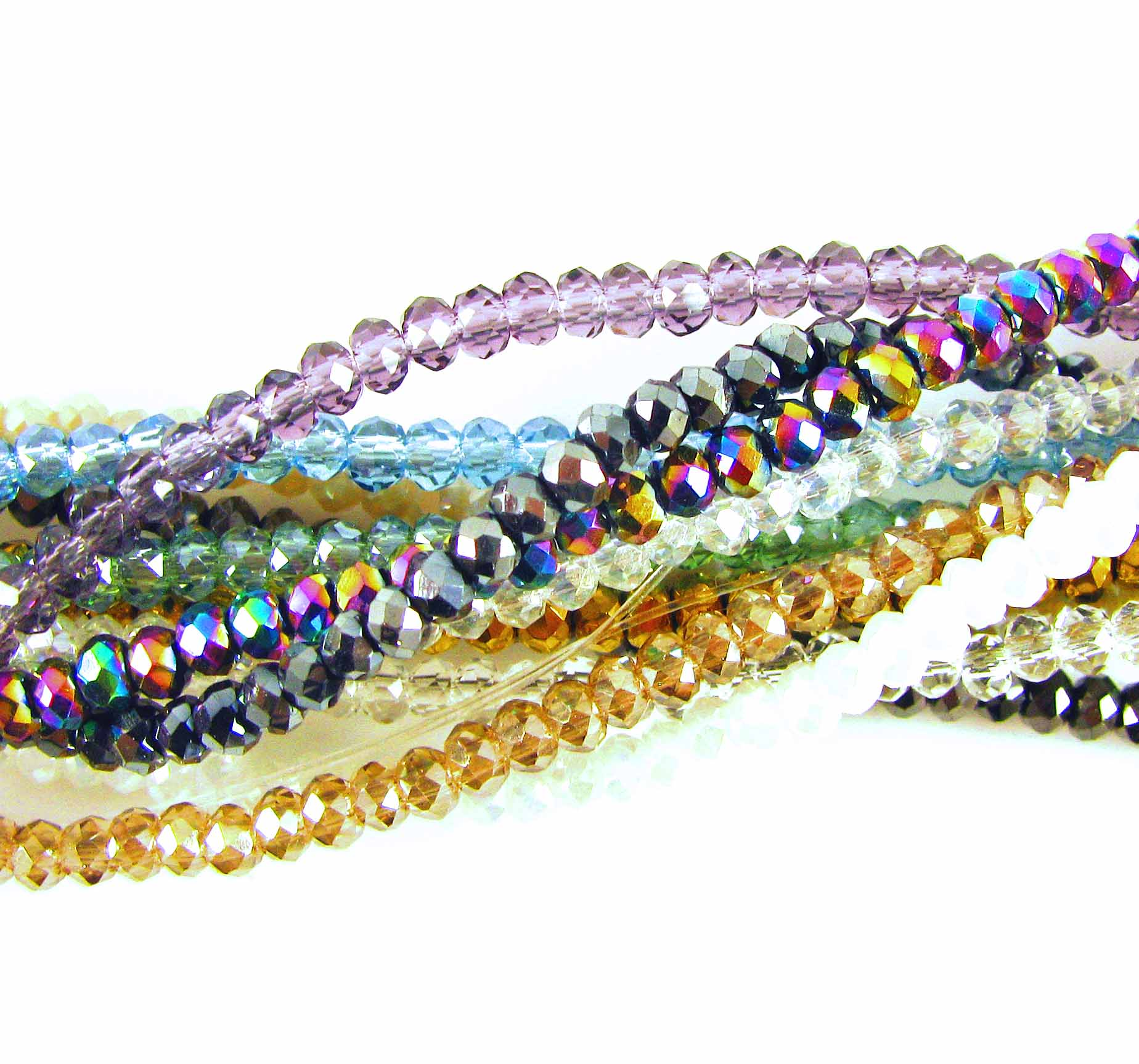 Mini Crystal Rondelle Strands