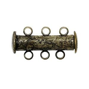 Antique Brass Triple Strand Clasp