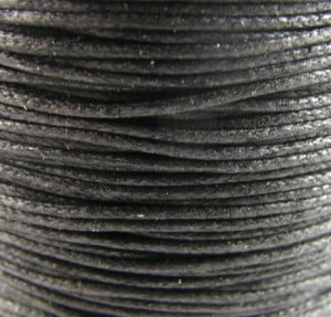 0.6mm black waxed cotton cord