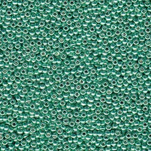 8-0-miyuki-seed-beads-22-gram-tube-galvanised-dk-mint-green-duracoat