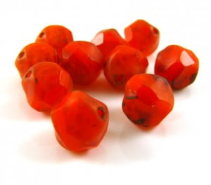 8mm-Table-Cut-Frosted-Round-Bead-Tomato