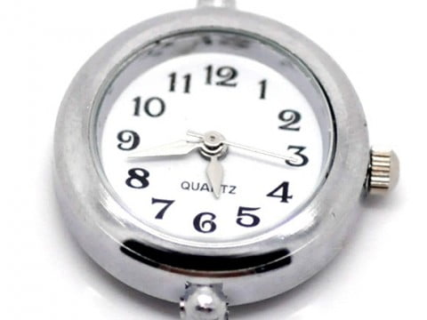 Watch faces spoilt rotten beads silver plated plain round watch face aloadofball Gallery