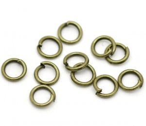 5mm Antique Brass Open Jump Rings