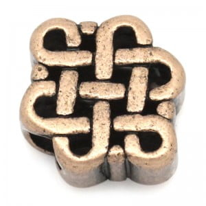 Antique Copper Chinese Knot Bead