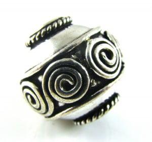 Silver-Plated-Ornate-Bali-Style-Swirl-Bead-20mm