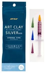art-clay-silver-650-syringe-10g-with-3-tips