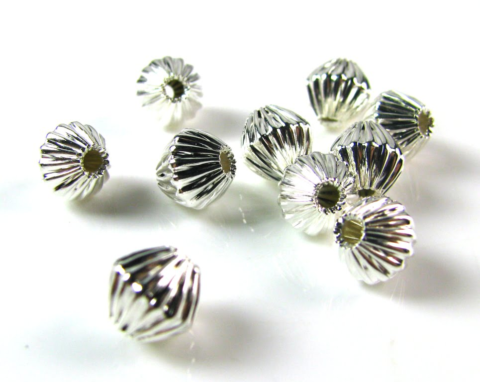 Pack of 25 Silver Plated Snowflake Spacer Beads 12mm x 12mm