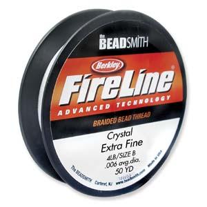 fireline-braided-bead-thread-6lb-crystal-50yd-spool