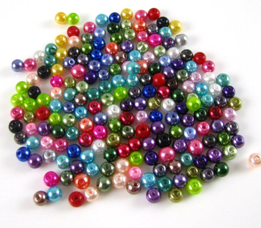 Pearl Beads: 6mm Preciosa Glass Pearl Bead Soup