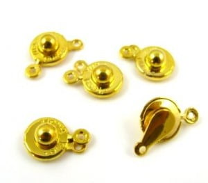 gold-plated-push-button-clasp-x-5