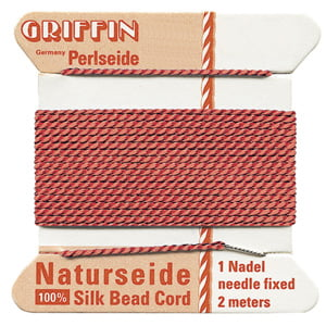 griffin-silk-bead-cord-no12-coral