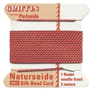 griffin-silk-bead-cord-no8-coral