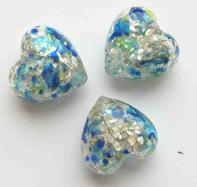 20mm Bead Beads: 20mm Murano Heart Beads