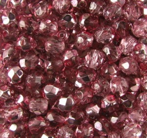 4mm Preciosa Fire-polished Beads