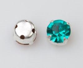 Rosemontee blue zircon-silver