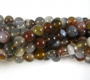 6mm A Grade Botswana Agate Round Beads