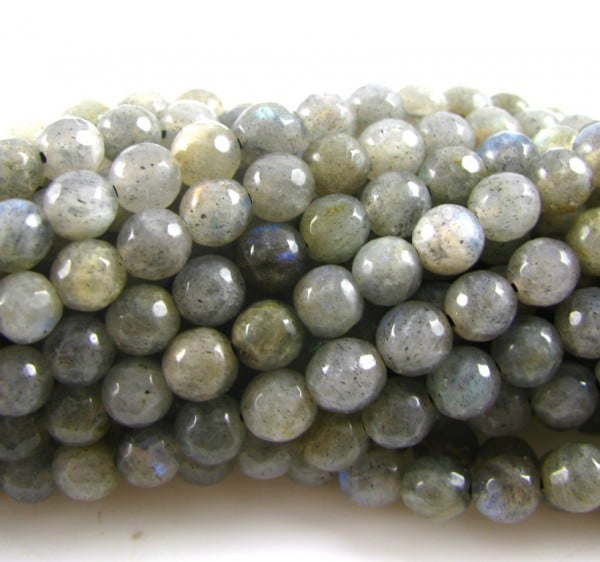 4mm Labradorite Faceted Round Strand