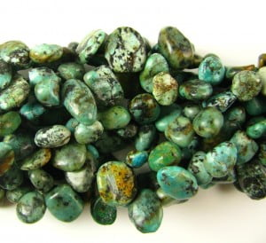 african turquoise drop style chips