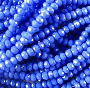 opaque cobalt mini rondelles
