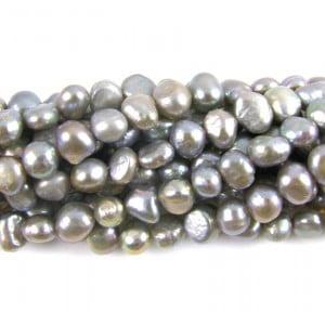 silver grey nugget pearls