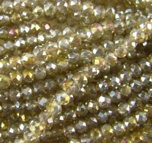 silver shade mini rondelles