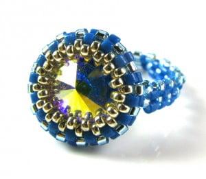 Ab fab ring crystal ab