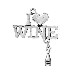 I love wine charm