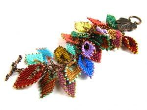 russian leaves charm bracelet