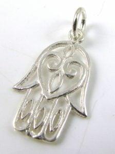 st silver hamsa charm