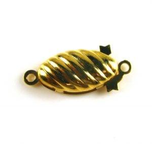 gold ridged clasp