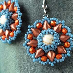 Primrose Earring Pattern Printed Copy Spoilt Rotten Beads
