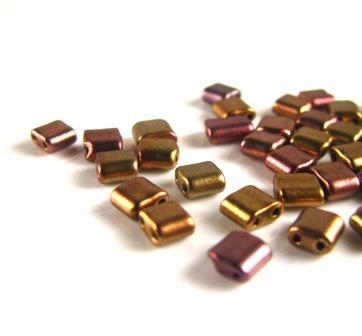 Preciosa Two Hole Tile Beads