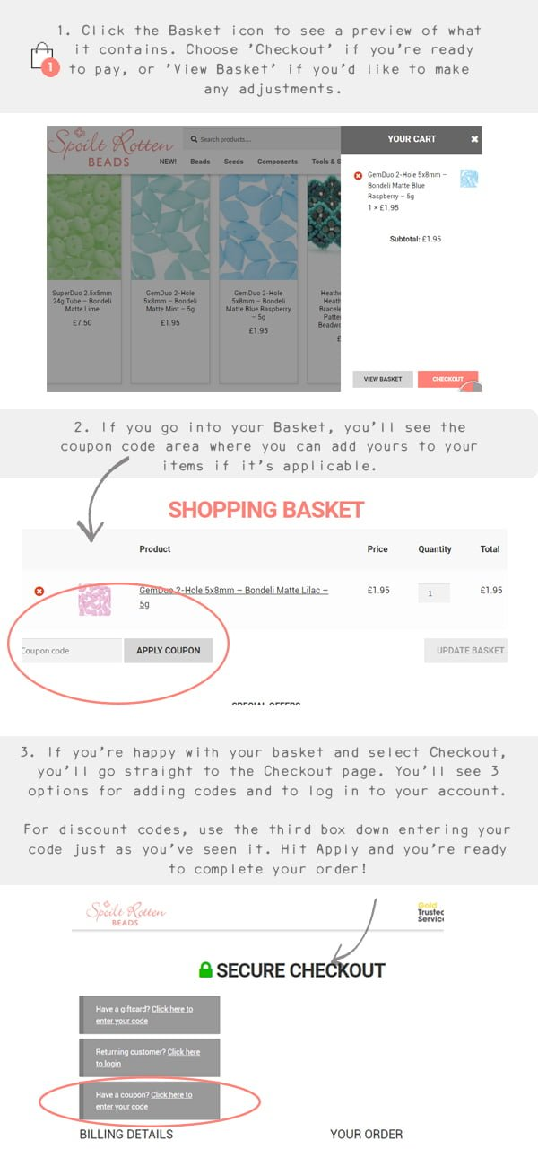 How to add coupon codes to your basket
